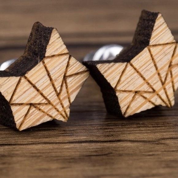 Jewelry - Tiny World Wood Fox Earrings
